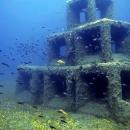 artificial reef, cyprus, amathous, limassol, lemesos, amathounta, amathous artificial reef, pyramid